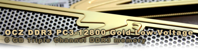 OCZ DDR3 PC3-12800 Gold Low-Voltage Triple Channel memory
