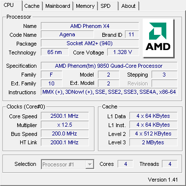 AMD PHENOM X4 9850 DRIVER FOR PC