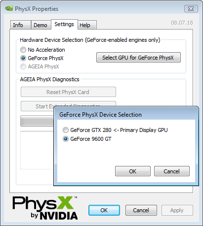 GeForce PhysX - Copyright 2008