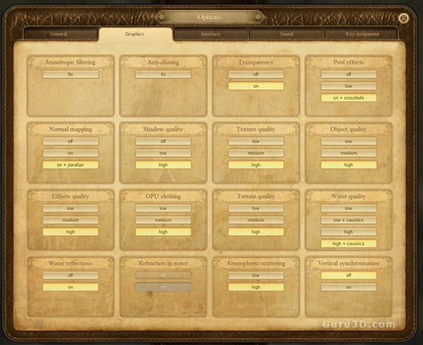 Anno 1404 VGA Graphics card performance