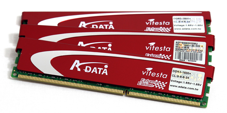 A-Data DDR3 1600+ Triple Channel memory kit