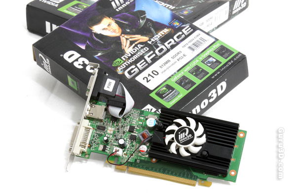 Inno3D GeForce GT 210 and 220