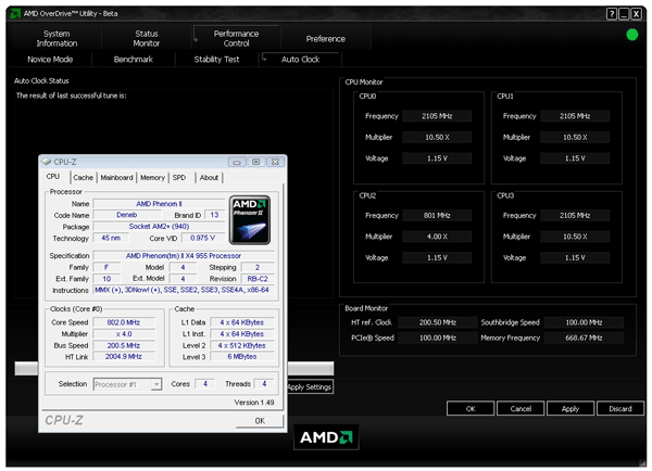 Phenom II X4 965 BE processor review test - AMD OverDrive