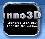 Inno3D GeForce GTX 580 OC edition