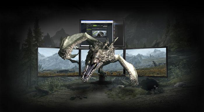 Geforce GTX 680 review - 3D Vision surround - 4 displays