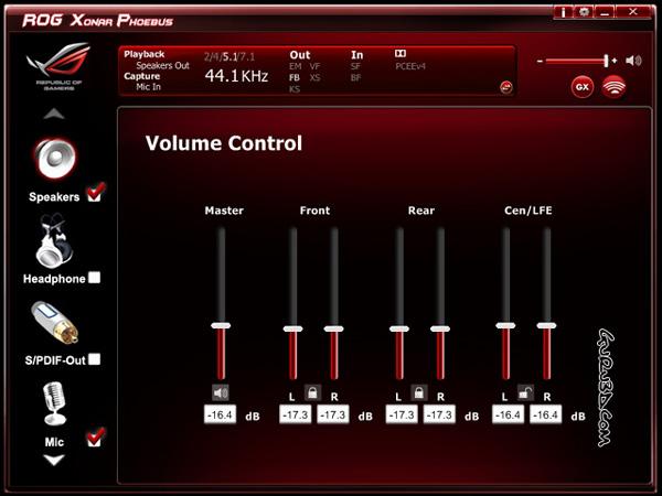 Volume Sound Control Panel : Asus xonar phoebus soundcard review driver