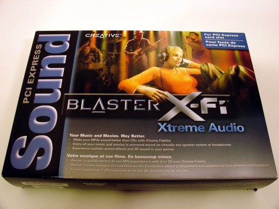 The Creative Labs Sound Blaster X-Fi Xtreme Audio PCI Express Sound Card