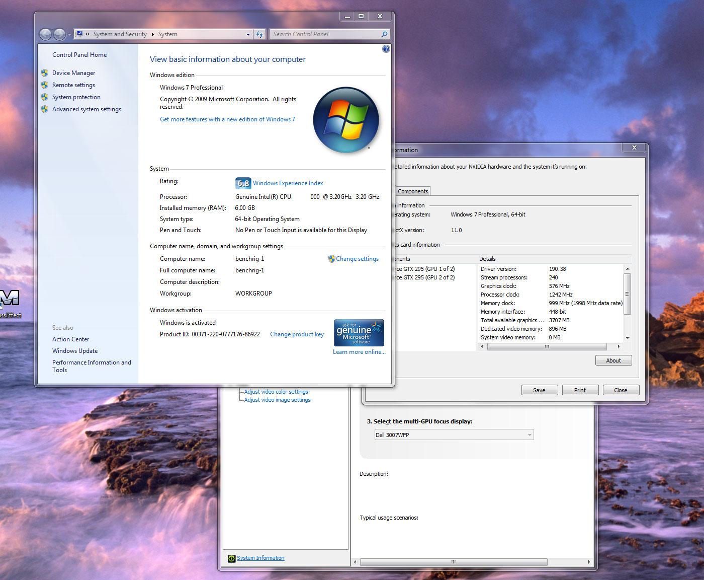 Windows 7 vs Vista VGA game performance - Test system and