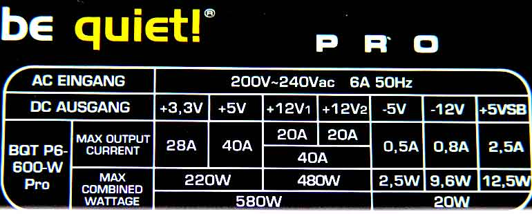Bequiet - Dark Power Pro 600 Watt PSU review