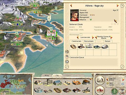 rome total war start map