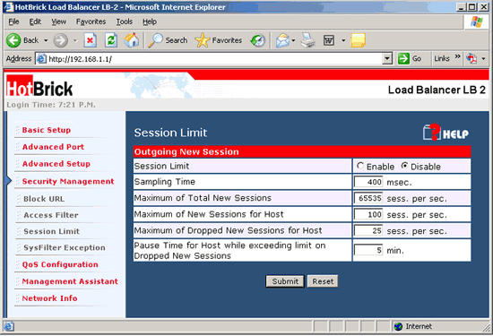 how to get into router configuration web page examples
