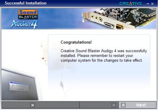 Creative sb0660 sound blaster audigy 4 7. 1 channels pci sound card.