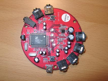 C-media CM106-F all-in-one sound chip.