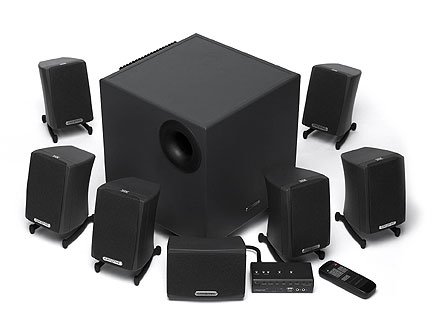 creative gigaworks s750 7 1 surround sound speaker system ebay. Black Bedroom Furniture Sets. Home Design Ideas